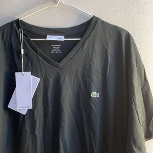 Lacoste T Shirt 4XL V Neck Cotton New With Tags